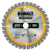 Dewalt DT1950QZ Dewalt Construction Saw Blade 165mm x 20mm 36T Cordless