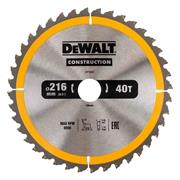 Dewalt DT1953-QZ Dewalt Construction Saw Blade 216mm x 30mm 40T