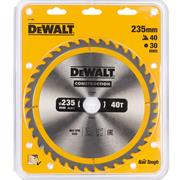Dewalt DT1955QZ Dewalt Construction Saw Blade 235mm x 30mm 40T