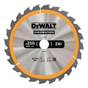 Dewalt DT1956QZ Dewalt Construction Saw Blade 250mm x 30mm 24T