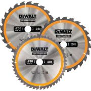 Dewalt DT1963-QZ Construction 250mm Circular Saw Blade Triplepack