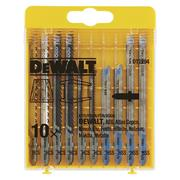 Dewalt DT2294QZ Wood & Metal Cutting Jigsaw Blade Pack - 10 Pack