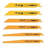 Dewalt DT2444QZ 6 Piece Bi-Metal Reciprocating Saw Blade Pack with Case