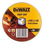 Dewalt DT3506-QZ 115mml Fast Cut Cutting Disc Pack of 10