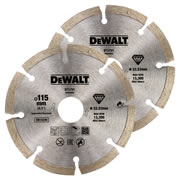 Dewalt DT3701-QZ Dewalt 115mm Segmented Diamond Blade - Pack of 2