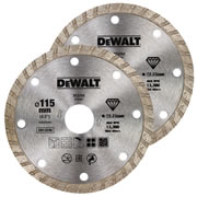 Dewalt DT3702-QZ Dewalt 115mm Turbo Dry Diamond Blade - Pack of 2