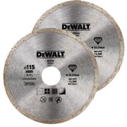 Dewalt DT3703-QZ Dewalt 115mm Diamond Blade Continuous Rim - Pack of 2
