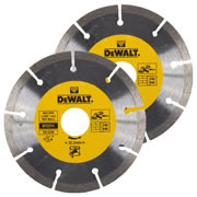 Dewalt DT3711-QZ Dewalt 125mm Segmented Diamond Blade - Pack of 2