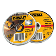 Dewalt DT42335TZQZ Abrasive Discs 115 x 1.2mm Thin Cut INOX 10 Piece Set