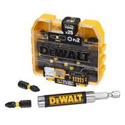 Dewalt  Dewalt PZ2 25mm Impact Torsion Screwdriver Bit Box - Pack of 25 & Magnetic Holder Set
