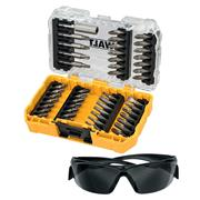 Dewalt DT70703QZ Dewalt 47 Piece Screwdriver Bit Set & Tinted Safety Glasses