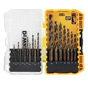 Dewalt  Dewalt 19 Piece Impact Black & Gold HSS Drill Bit Set