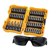 DT71540-QZ Dewalt 53pc UK Screwdriving Bit Set STC & Tinted Safety Glasses
