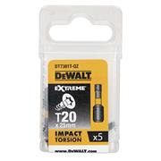 Dewalt DT7381T-QZ Dewalt T20 25mm Impact Torison Screwdriver Bits - Pack of 5