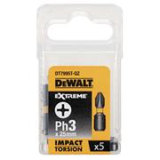 Dewalt DT7995T-QZ Dewalt PH3 25mm Impact Torison Screwdriver Bits - Pack of 5