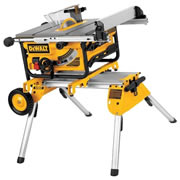 Dewalt DW745RS Dewalt Table Saw with Rolling Legstand