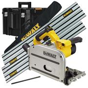 Dewalt Plunge Cut Saw Package with 2x Guide Rails,  Connector Piece, Bag and Case