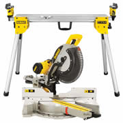 Dewalt DWS780PKC Dewalt 305mm Slide Compound Mitre Saw + Compact Legstand