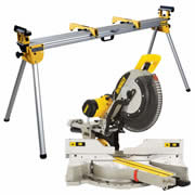 Dewalt DWS780PKR Dewalt 305mm Slide Compound Mitre Saw + Extendable Legstand