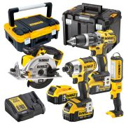 Dewalt XR4A Dewalt 18v Li-ion Cordless 4 Piece Kit