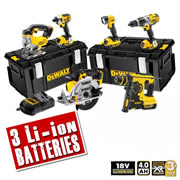 Dewalt XR6B Dewalt 18v 4.0Ah XR Li-ion 6 Piece Pack (3 Speed Drill)