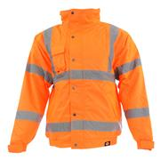 Dickies SA22050OR Hi-Vis Bomber Jacket - Orange