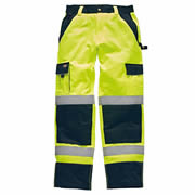 Dickies SA30035 Dickies Hi-Vis Two Tone Trousers