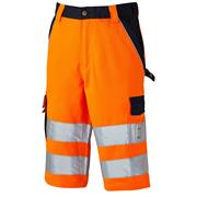 Dickies SA300065OR Industry Hi-Vis Shorts - Orange
