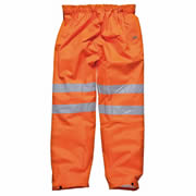 Dickies SA42005 Dickies Hi-Vis Over Trousers (Orange)