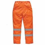 Dickies SA45011 Dickies Hi-Vis Polycotton Trousers (Orange)