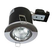 Danic DNFRGUTD/CH Fire Rated Adjustable Downlight for GU10s -  Chrome