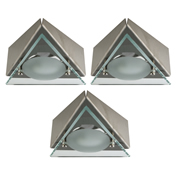 Danic DNG9TUC/SSPK3 Under Cabinet G9 Triangle Light with Drop Glass - Pack of 3
