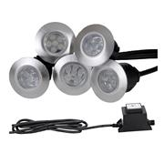Danic DNL1K/WH Pack of 5 LED Decking Lights & Fitting Kit - White