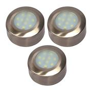 Danic DNLRUC/SS/WWPK3 Under Cabinet 4w LED Light Circle - Warm White - Pack of 3