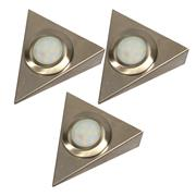 Danic DNLTUC/SS/WHPK3 Under Cabinet 4w LED Light Triangle - White - Pack of 3