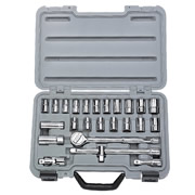 "Draper 02370 (SD25AMN) Draper 25 Piece 1/2"" Square Drive MM/AF Combined Socket Set"
