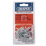 Draper 13555 (RIV) Draper Aluminium Blind Rivets (3.2mm) Pack of 50