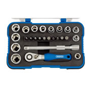 Draper 16354 1/4'' Square Drive Metric Socket Set 25 Piece