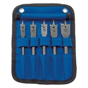 Draper  5 Piece Flat Wood Bit Set (In Canvas)