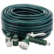 Draper 56447 12mm Bore Green Watering Hose and Spray Gun Kit 30m