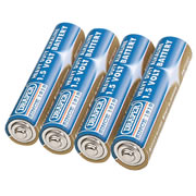 Draper 61833 (DLR03/HD) Draper AAA Heavy Duty Alkaline Batteries 4 Pack