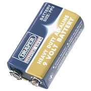 Draper 61837 (D6LR61/HD) Draper 9V PP3 Heavy Duty Alkaline Battery