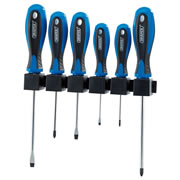 Draper 63568 6 Piece Soft Grip Screwdriver Set in Rack