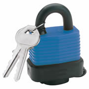 Draper 64176 (8307/45) Draper Weatherproof Laminated Steel Padlock 45mm