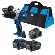 Draper 70370 Draper 70370 20v D20 Brushless Combi Drill with 1 x 3Ah + 4Ah Batteries, Charger and Case