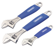Draper 88598 (380CD/SG3) Draper Soft Grip Adjustable Wrench Set 3 Piece
