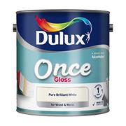 Dulux  Dulux Pure Brilliant White Once Gloss Paint (2.5 Litre)