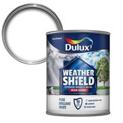 Dulux  Dulux Weathershield Exterior High Gloss Pure Brilliant White Paint (750ml)
