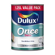 Dulux  Dulux Pure Brilliant White Once Gloss Paint (1.25 Litre)
