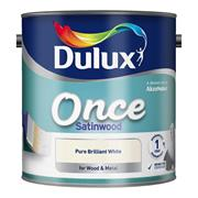 Dulux  Dulux Once Satinwood Pure Brilliant White Paint (2.5 Litre)